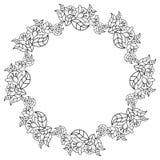 Cadre rond élégant avec des découpes des fleurs o Image libre de droits