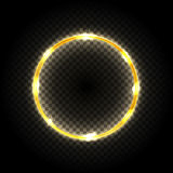 Cadre rond avec des effets de la lumière sur le fond transparent Illustration de vecteur illustration de vecteur