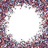 Cadre rond avec des scintillements rouges et de bleu illustration de vecteur
