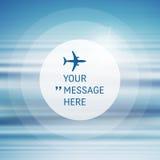 Cadre rond avec l'endroit pour le texte Fond avec le ciel bleu et les nuages Image libre de droits