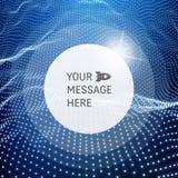 Cadre rond avec l'endroit pour le texte Structure de trellis Fond de communication de technologie de réseau Images libres de droits