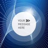Cadre rond avec l'endroit pour le texte Structure de trellis Fond de communication de technologie de réseau Photos stock