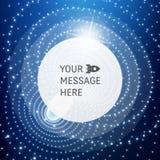 Cadre rond avec l'endroit pour le texte Structure de trellis Fond de communication de technologie de réseau Conception graphique Images libres de droits