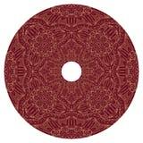 Cadre rond avec le modèle rouge arabe Modèle de Boho des lignes Photo libre de droits