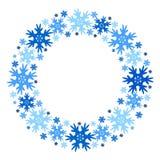 Cadre rond d'hiver de vecteur des flocons de neige D'isolement illustration libre de droits