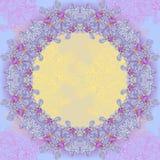 Cadre rond de conception abstraite violette Photographie stock