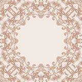 Cadre rond de conception florale Photographie stock