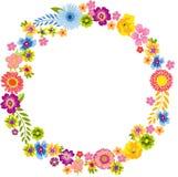 Cadre rond de fleur de ressort illustration de vecteur