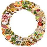 Cadre rond de nourriture photo stock