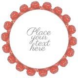Cadre rond de rétros roses illustration stock