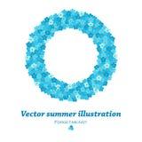 Cadre rond de vecteur avec des fleurs de myosotis Image libre de droits