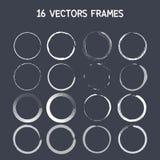 cadre rond de 16 vecteurs Images stock