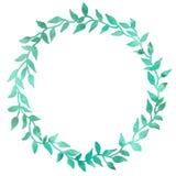 Cadre rond des éléments simples, tracts Dessin d'aquarelle avec une course de d?coupe sur un fond blanc, pour la conception de illustration stock