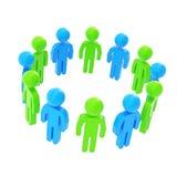 Cadre rond fait de groupe de personnes symboliques Photographie stock libre de droits