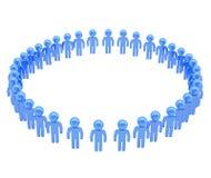 Cadre rond fait de groupe de personnes symboliques Photos libres de droits