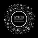 Cadre rond pour le texte avec le motif floral abstrait élégant Images stock