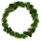Cadre rond pour Noël Image stock