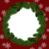 Cadre rond pour Noël Photos libres de droits