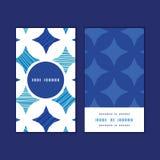 Cadre rond vertical de tuiles de marbre bleues de vecteur Photos stock