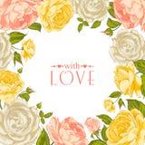 Cadre rose élogieux Images libres de droits