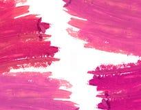 Cadre rose de calomnie de rouge à lèvres Composez le cadre photos libres de droits