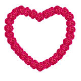 Cadre rose de coeur de damassé image stock