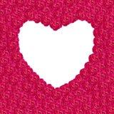 Cadre rose de coeur de damassé photo stock