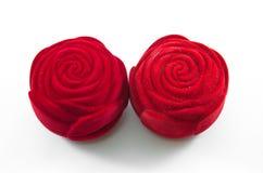 Cadre rose de soie rouge de velours pour l'enclenchement Images stock