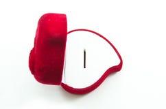 Cadre rose de soie rouge de velours pour l'enclenchement Photographie stock libre de droits