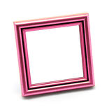 Cadre rose vide classique carré de photo d'isolement Photographie stock