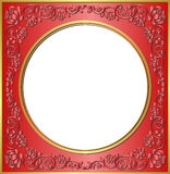 Cadre rouge Photo libre de droits