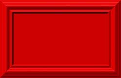 Cadre rouge illustration de vecteur