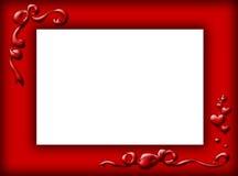 Cadre rouge Image libre de droits
