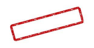 Cadre rouge d'icône de vecteur de timbre de ruber, concept moderne d'illustration islolated sur le fond blanc illustration stock