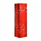 Cadre rouge de cadeau de Noël images stock