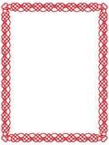 Cadre rouge de coeur avec l'ornement celtique   Photo libre de droits