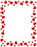 Cadre rouge de coeurs illustration libre de droits