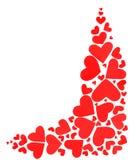 Cadre rouge de coeurs Photo libre de droits