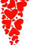 Cadre rouge de coeurs Image stock
