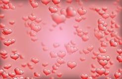 Cadre rouge de fond de coeur pour la valentine de saint meilleurs voeux et les cartes de voeux Images stock