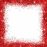 Cadre rouge de frontière de scintillement Image libre de droits