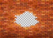 Cadre rouge de mur de briques de cru sur le fond transparent illustration de vecteur