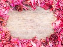 Cadre rouge de pot-pourri Photographie stock