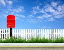 Cadre rouge de poteau photos stock