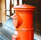 Cadre rouge de poteau Photographie stock libre de droits