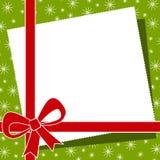 Cadre rouge de proue de Noël Photo stock