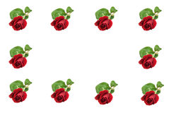 Cadre rouge de Rose photos libres de droits