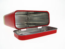 Cadre rouge en métal Photo stock