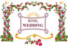 Cadre royal de mariage Photographie stock