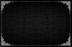 Cadre royal sur le fond noir de modèle, cadre de photo de vintage sur le fond de canard, antiquité illustration libre de droits